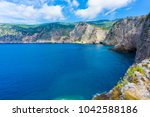 panoramic view of a bay in... | Shutterstock . vector #1042588186