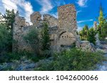 the castle is on the peninsula... | Shutterstock . vector #1042600066