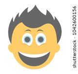 a laughing expression shown... | Shutterstock .eps vector #1042600156