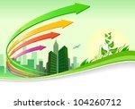 abstract green city  landscape  ... | Shutterstock .eps vector #104260712