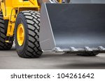 new yellow bulldozer | Shutterstock . vector #104261642