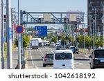 sapporo city hokkaido japan... | Shutterstock . vector #1042618192
