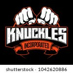 two fists  knuckles  vector...