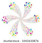 colorful shit cyclonic spin.... | Shutterstock .eps vector #1042633876
