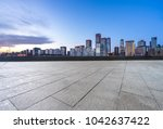empty floor and square with... | Shutterstock . vector #1042637422