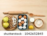 set of kitchenware and products ... | Shutterstock . vector #1042652845