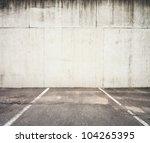 Concrete Parking Lot Wall