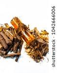 ayurvedic herb liquorice root... | Shutterstock . vector #1042666006