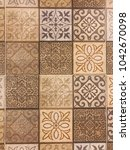 the wall pattern | Shutterstock . vector #1042670098