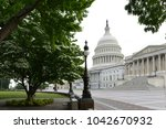 united states capitol building  ... | Shutterstock . vector #1042670932