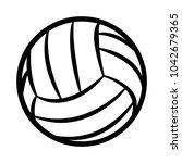 volleyball ball silhouette...   Shutterstock .eps vector #1042679365