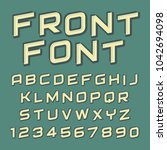 font design   handcrafted... | Shutterstock .eps vector #1042694098