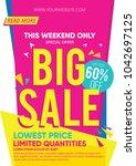abstract creative big sale... | Shutterstock .eps vector #1042697125