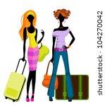 vector illustration  of a girls ... | Shutterstock .eps vector #104270042