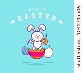 happy easter vector... | Shutterstock .eps vector #1042715506
