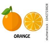 vector illustration flat orange ... | Shutterstock .eps vector #1042723828