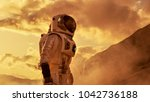 Courageous Astronaut In The...