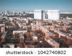 true tilt shift cityscape ... | Shutterstock . vector #1042740802