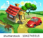 vector illustration of a... | Shutterstock .eps vector #1042745515