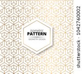 isometric gold texture pattern... | Shutterstock .eps vector #1042760002