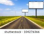 billboard on country road | Shutterstock . vector #104276366