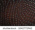 Brown Crocodile Skin Texture...