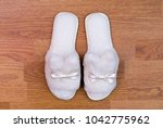 top view of a pair of new soft... | Shutterstock . vector #1042775962