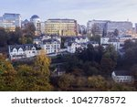 panorama of luxembourg city at... | Shutterstock . vector #1042778572