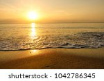 sunrise  nice atmosphere at the ... | Shutterstock . vector #1042786345
