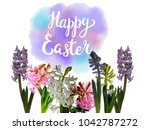 spring floral hyacinth... | Shutterstock . vector #1042787272