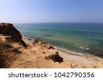 coast of the mediterranean sea... | Shutterstock . vector #1042790356