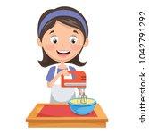 vector illustration of woman... | Shutterstock .eps vector #1042791292