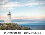 lighthouse in byron bay... | Shutterstock . vector #1042792786