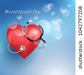 stethoscope medical equipment... | Shutterstock .eps vector #1042797208