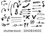 doodle hand drawn vector arrows | Shutterstock .eps vector #1042814032