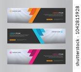 banner background.  vector... | Shutterstock .eps vector #1042815928