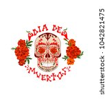 t shirt print with mexican... | Shutterstock . vector #1042821475