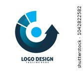 loading circle recycle logo... | Shutterstock .eps vector #1042822582