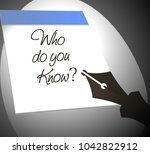 who do you know   | Shutterstock .eps vector #1042822912