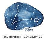 pisces zodiac sign as star... | Shutterstock . vector #1042829422