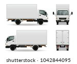 lorry with blank surface... | Shutterstock . vector #1042844095