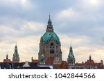 Stock photo new town hall hannover germany 1042844566