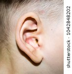 baby's ear health and ear care  | Shutterstock . vector #1042848202
