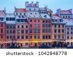 old town market place with... | Shutterstock . vector #1042848778
