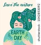 earth day. vector illustration...   Shutterstock .eps vector #1042853092