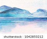 ocean landscape. beautiful... | Shutterstock . vector #1042853212