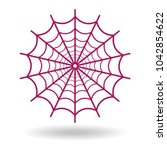 spider web icon on white... | Shutterstock .eps vector #1042854622