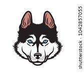 siberian husky dog   isolated...   Shutterstock .eps vector #1042857055