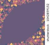 rhombus violet minimal... | Shutterstock .eps vector #1042859152