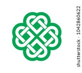 shamrock   green leaf irish... | Shutterstock .eps vector #1042860622